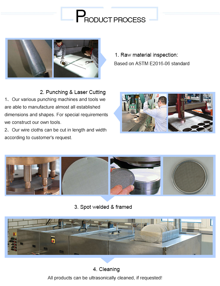 120 micron stainless steel filter mesh screen disc