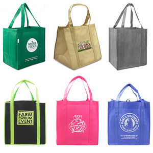 Eco Friendly Picture Printing Reusable Grocery Shopping Bag Laminated PP Woven Shopping Bag