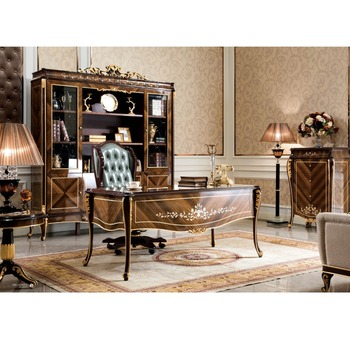 Yb70-1 Luxury Executive Office Desk,Noble Italian Style Classic Reading  Table/chair/ Bookcase,Graceful Home Office Furniture - Buy Office Furniture  ...