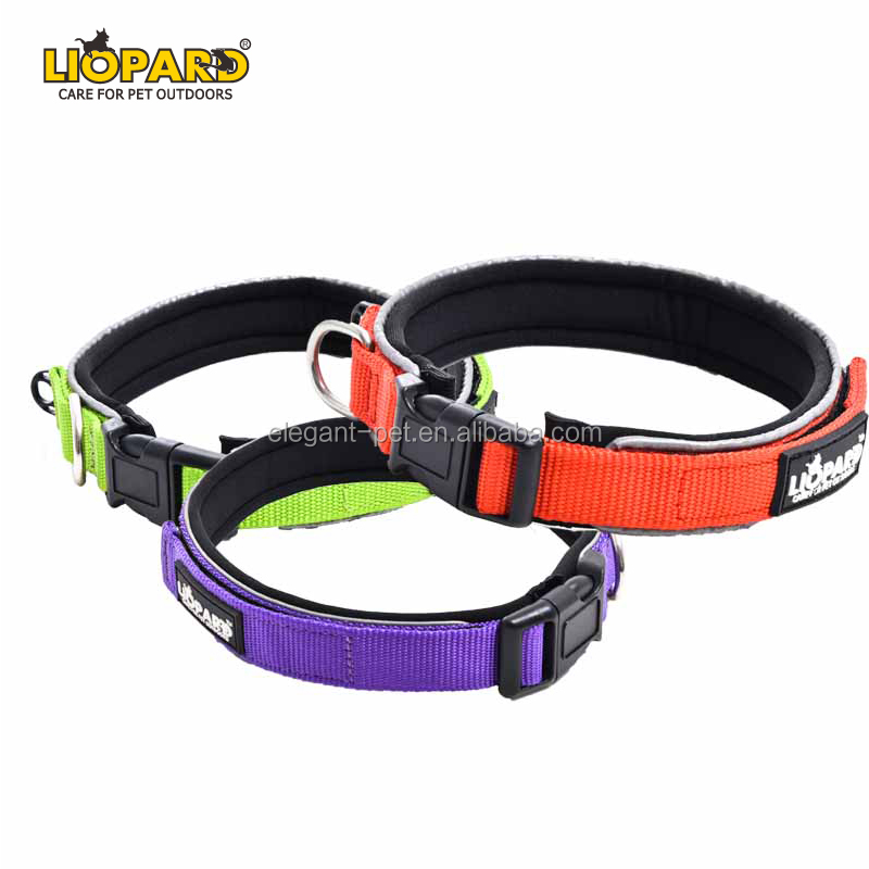 Novo estilo mais popular laranja reflexiva dog collar