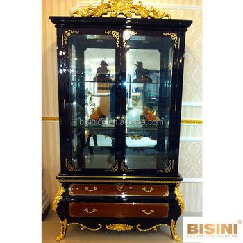 Bisini Noble Collection Luxury Antique Double Door Curio Cabinet