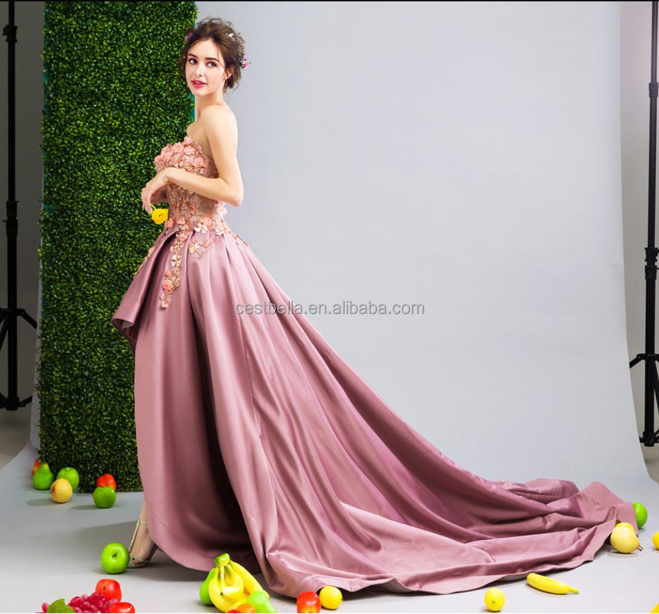 Diseño asimétrico delante-espalda corta-bolas de nuevo vestido de ...