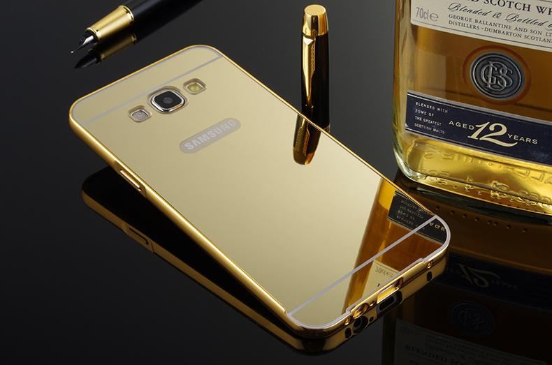 Bumper Case Mirror Back Cover For Samsung E7 E700 E700f Metal Case ... fe5404bcac