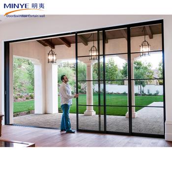 Grill Design Sliding Door China Manufacturer Aluminum Glass Sliding