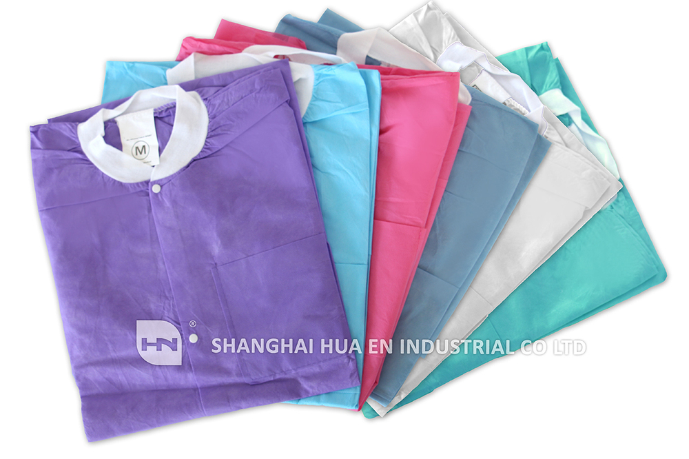 Oem Colored Medical Clean Room Garment Clothing Overcoat