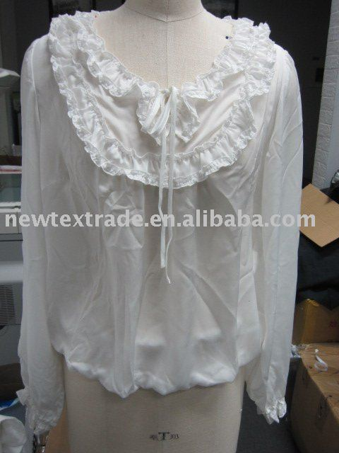 the latest design for summer white tops chiffon