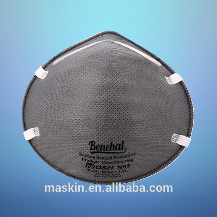 Benehal N95 activated carbon filter gas mask disposable