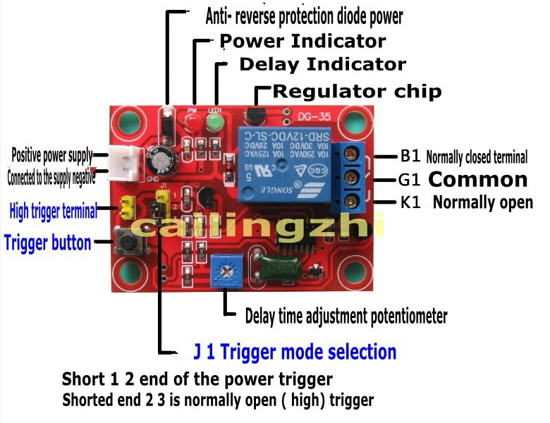 12v Delay Relay Module Can Be Set To Trigger On