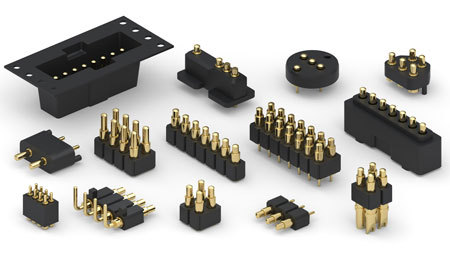 Pcb Battery Connector Spring Contact Connectors Pogo Pin