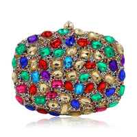 Wholesale Fashion Women Lady Rhinestones Shinny Luxury Evening Bags