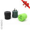 black all in one world universal travel adapter