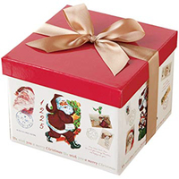 Christmas Boxes Packaging Supplier Bosing Custom Square Cardboard Paper Cake Packing Christmas Gift Box