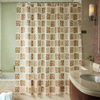 Custom Printed Waterproof And Mildew Proof African Print Shower Curtain