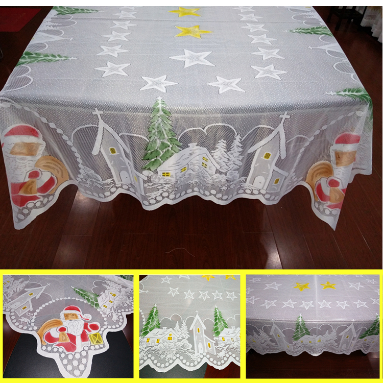 Chrismas Decoration Table Cloth Lace Christmas Tablecloth With E Coloring Cover