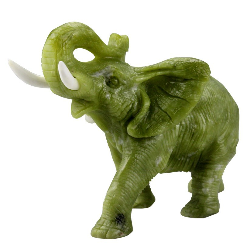 Hot Wholesale Carved Small Stone Animals Figurines,Natural Lemon Jade Hand  Carved Elephant Figurines For Home Decor - Buy Animals Figurines,Carved