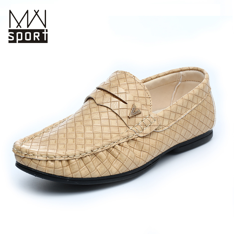 Casual Mens Loafers Shoes New 2015 Spring Men's Leather Mocassin Driving Shoes Classic Slip on Flats Loafers Mocassim Masculino