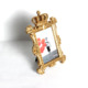 hot selling plastic mini crafts crown photo frame with stand