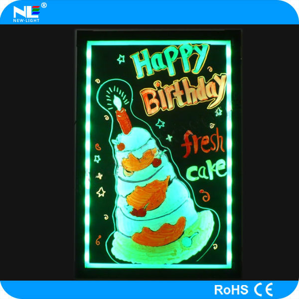 New Invention Make Led Light Up Backlit Menu Board / Merry Christmas Led  Writing Board - Buy Merry Christmas Led Writing Board,Led Light Up Menu