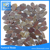 polished pebble stone, black river stone,natural stone