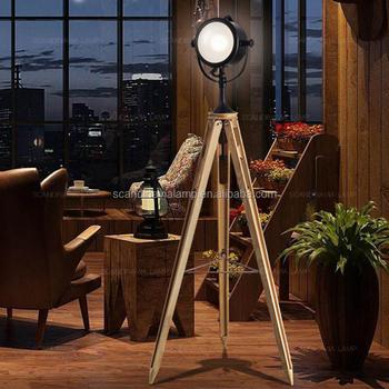 Floor Lamp Wood 3 Legs India Wooden Antique Industrial Standing Floor Lamp Light Tripod Wooden Floor Lamp With Fabric Shade Buy Vintage Standing