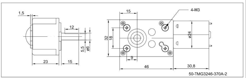 Kleine Größe 12 20mm Schneckengetriebe Plus N20va Permanentmagnet Dc ...