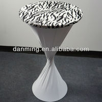New Arrival- Zebra Printed Spandex Highboy Table Cover With Zebra Topper