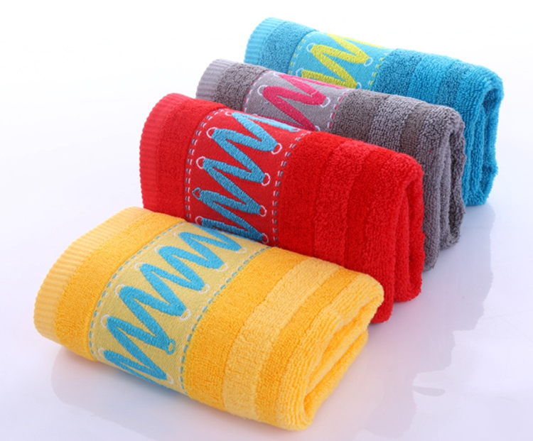 high quality terry cloth 100% organic cotton face towel