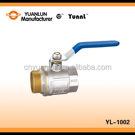 Aluminium Level Handle Brass Ball Valve