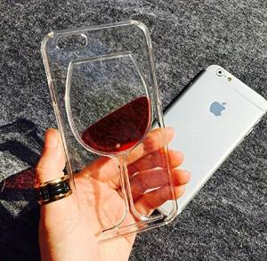 """One by One Shop LY-PCB-006 Lucky Liquid Wine Glass Cocktail Bottle Phone Case Cover for iPhone 6, 4.7"""", Purple Glass"""