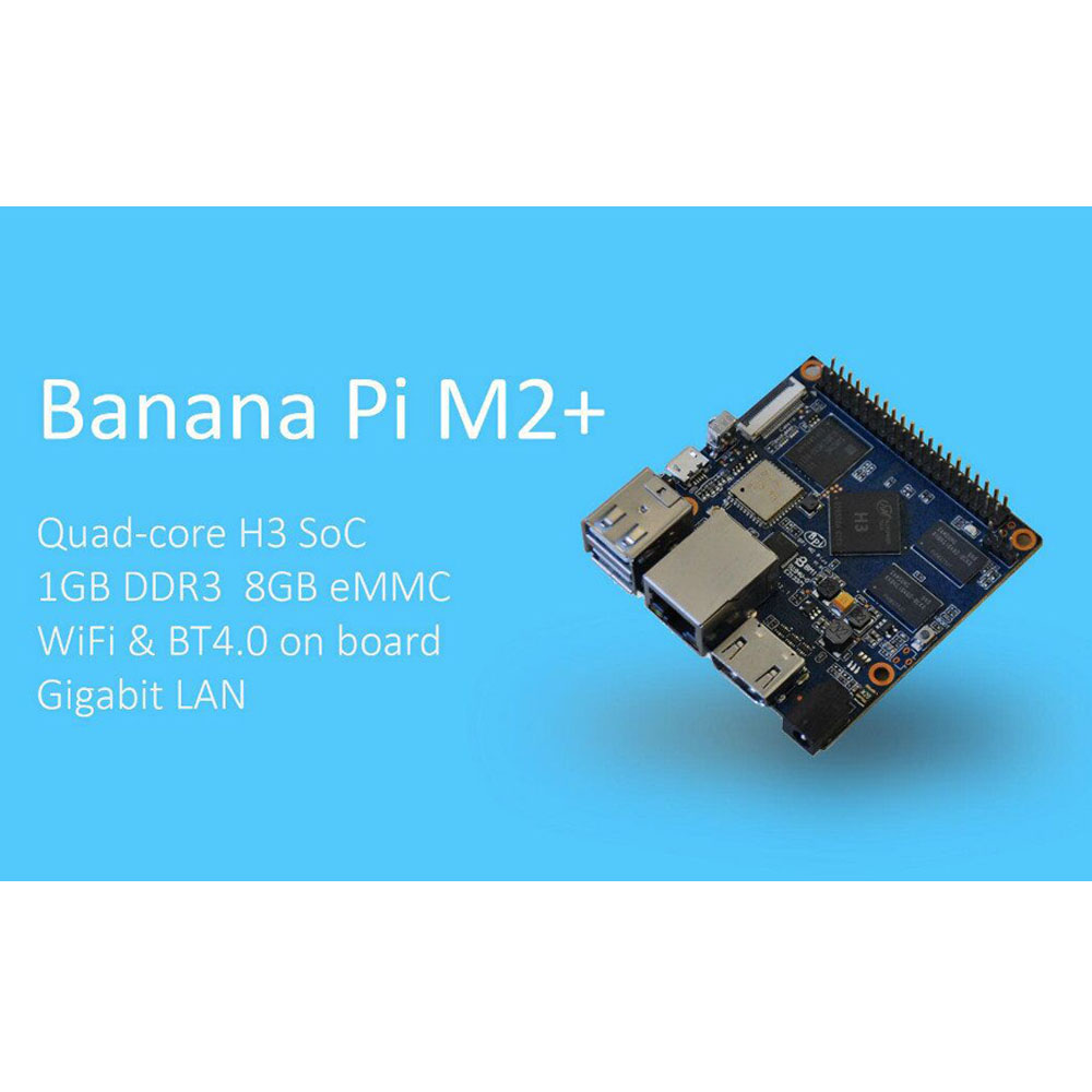 H3 quad core single board computer Banana PI M2 Plus with 1Ghz ARM7 support HDMI is much better than Raspberry Pi
