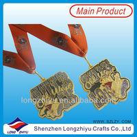 UK 5K and 10K Newest design run race medal custom sports half marathon medal with giltter medal ribbon(lzy-201300253)