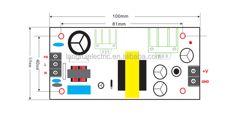 20w 5v 4a Smps Circuit Open Frame Switching Power Supply