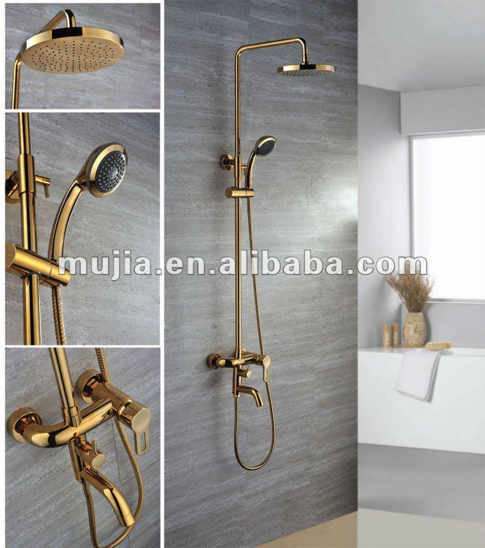 Grs03 acabado dorado lluvia ducha grifo grifos hechas en - Grifo de la ducha ...