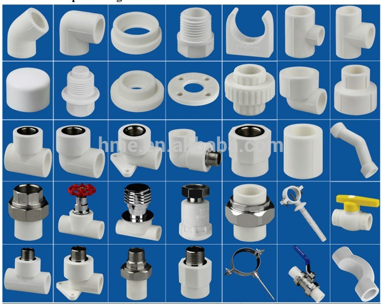 Hot and cold water ppr names pipe fittings buy ppr names for Pvc for hot water