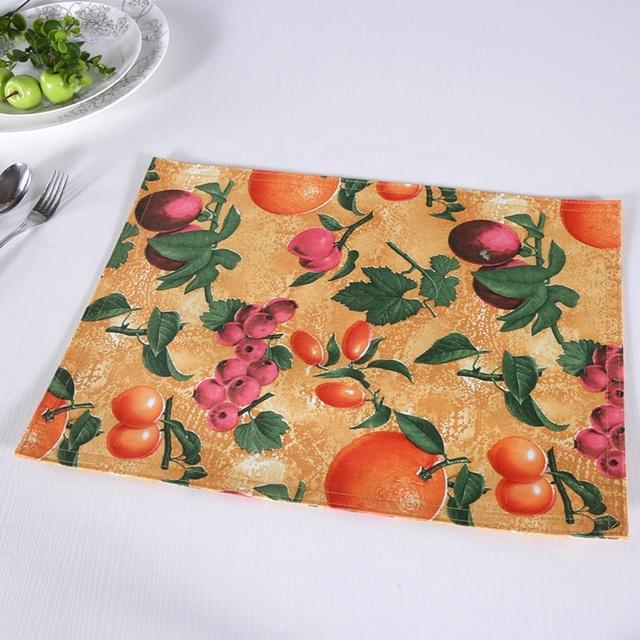 Fruit Design Print Dining Table Mats