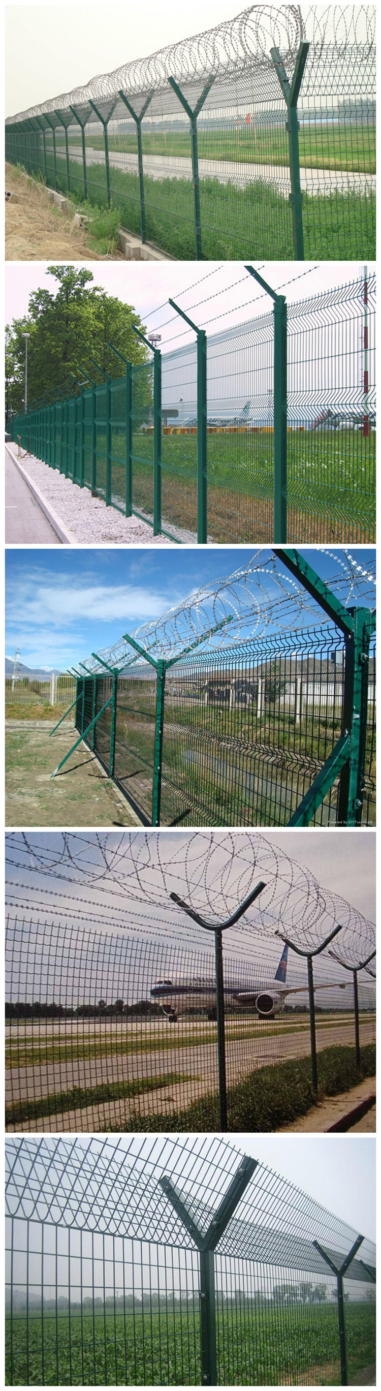Security Iron Wire Mesh Fence Electric Galvanized Airport Fence