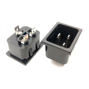 SS-3A-1 AC 250V 16A 3 Pin Panel Mount IEC320 C20 Male Plug Power Socket Adapter