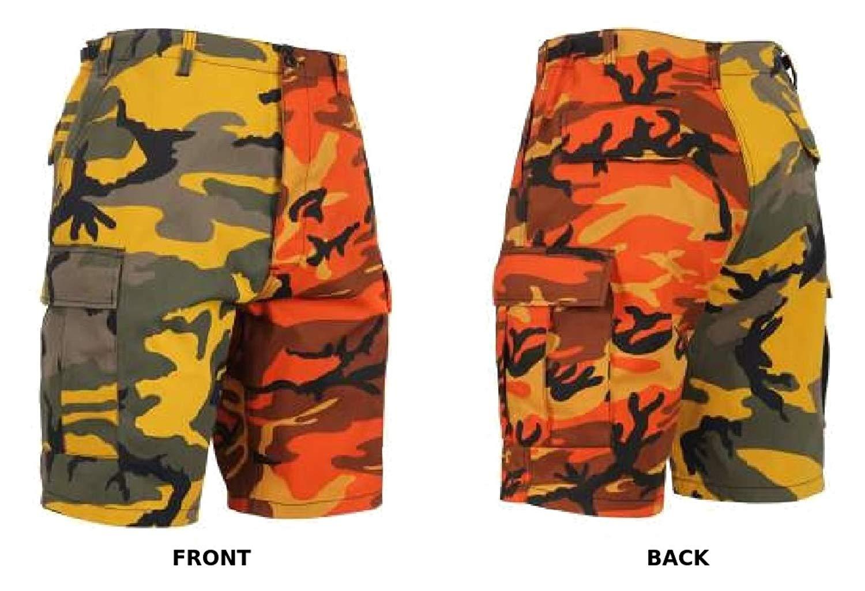 Get Quotations · Men s 6-Pocket BDU Shorts Two Tone Stinger Yellow Camo    Savage Orange Camo 2e7a5966f23