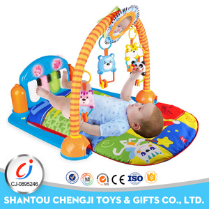 Hot popular piano electrical gym pvc baby play mat with music