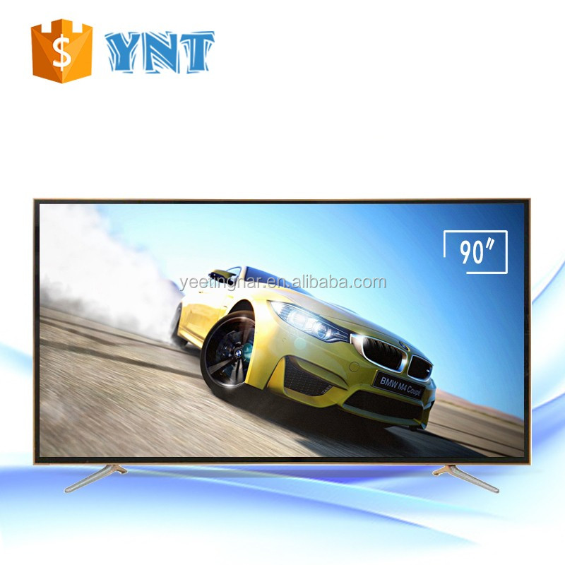 Guangdong 90 inch HD 1080p 120Hz 3D Smart LED TV television 80 inch led backlight tv