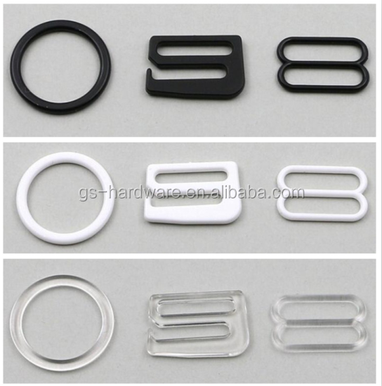 metal bra buckle bra ring and slider and bra clasp, JX-B010