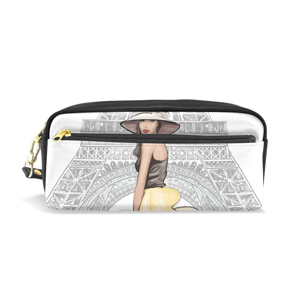 Naanle Fashion Eiffel Tower Girl Model Romantic Paris Women Makeup Bag  School Student Pencil Case Electronics 9ce1e838f0059