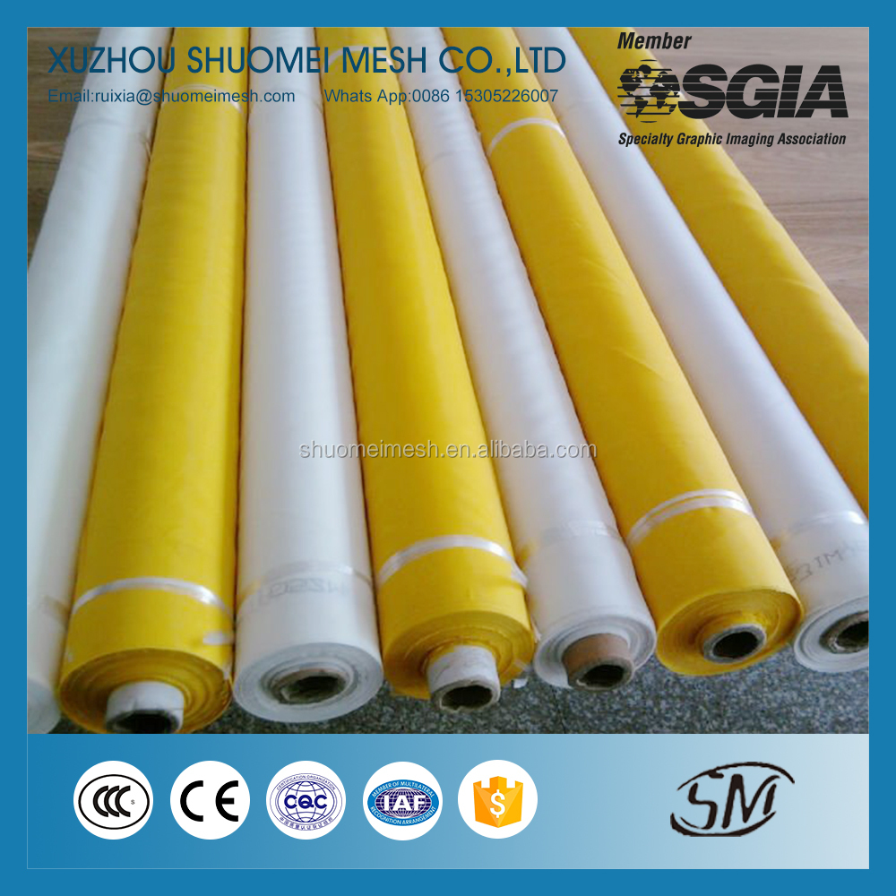 80T.48UM 100% Polyester Monofilament Screen Printing Mesh/Bolting Cloth/DPP Silk Printing Mesh Fabric for T-shirt & Garment