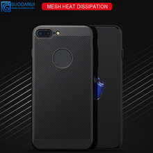 For Iphone X protective cover Heat dissipation net Mesh matte full hard PC Back shell