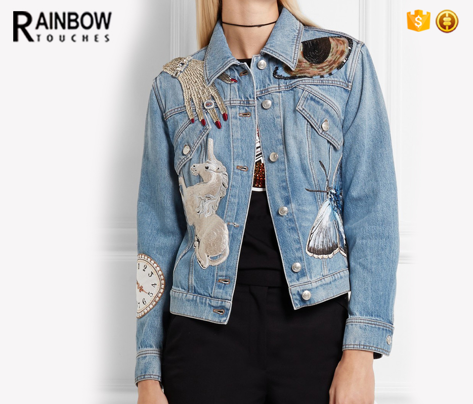Sequin Denim Jacket, Sequin Denim Jacket Suppliers and Manufacturers at  Alibaba.com