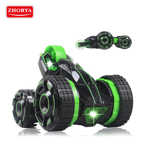 Zhorya toy 360 rotation stunt rolling double sided rc car for kids