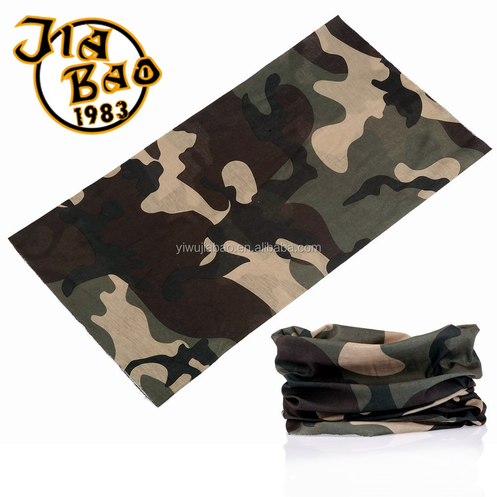 LOOGU 12-in-1 Headband Tigerstripe Camo Multifunctional Seamless Bandanas Headwear