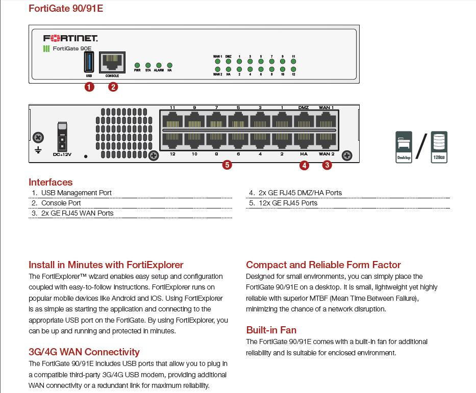 Fortinet Fortigate-90e Hardware Plus 1 Year 8x5 Forticare And Fortiguard  Utm Bundle Firewall - Buy Fortinet Fortigate-90e,Fortinet
