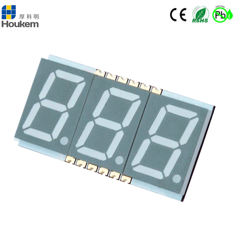 smd 7 segment led display 0.56 inch 3 digit 7 segment led smd display red/green/blue/white