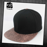 Factory supply news leather brim boy snapback hat men